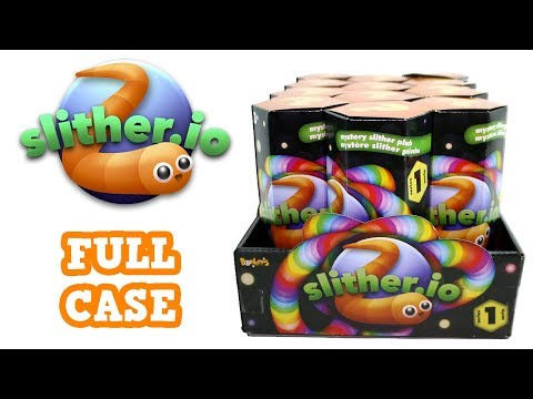 Mystery Slither Plush Series 1 Blind Box Full Case Unboxing Slither.io Plush Opening Entire Case
