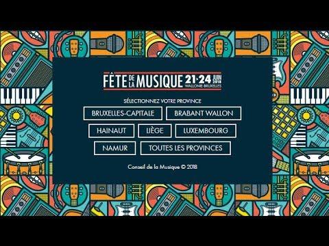 La Fête de la Musique 2018 en Fédération Wallonie-Bruxelles