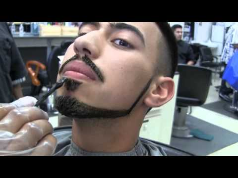 Bigen Hair color application on haircut and Beard Step by step ...