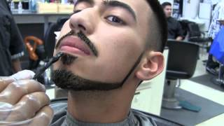Bigen Hair color application on haircut and Beard Step by step video(How to apply Bigen hair color