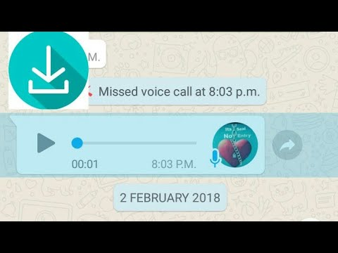 how to save whatsapp voice message in android