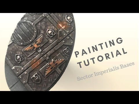 How To Paint Tutorial For Warhammer 40k Sector Imperialis Bases