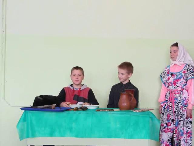 Изображение предпросмотра прочтения – «5 класс ГБОУ СОШ с. Самовольно-Ивановка» читает произведение «Демьянова уха» И.А.Крылова