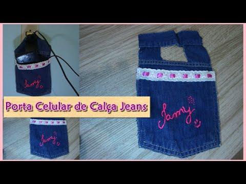 Diy Porta Celular De Cal A Jeans Por Tamysturado Youtube