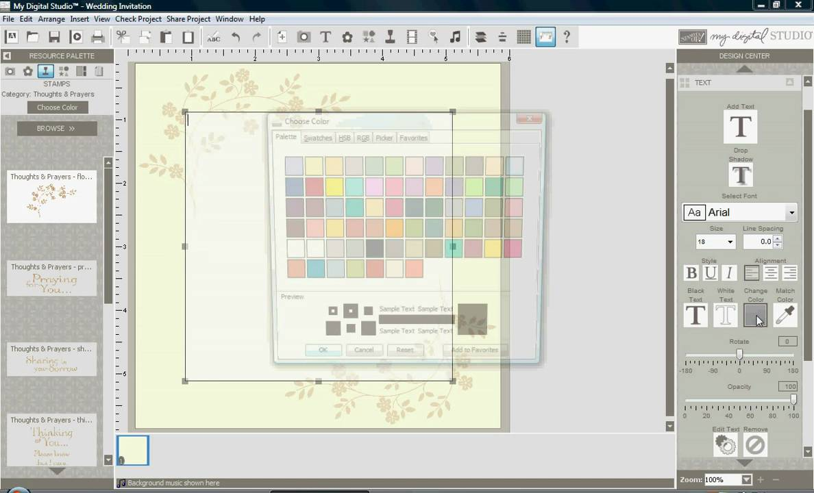 Make Your Own Wedding Invitations with My Digital Studio - YouTube