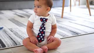Cute Baby Boy Outfits (with snap-on ties!)