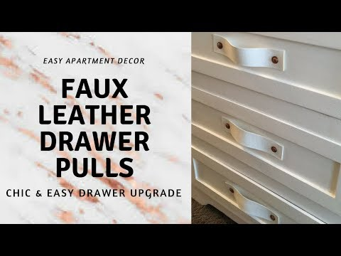 Faux Leather Drawer Pulls | Chic & Easy Drawer Upgrade