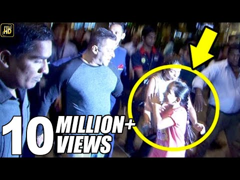 Thumbnail: Salman Khan's Little FAN Begs To Hold His Hand At Airport.. What Salman Does is Very CUTE!!