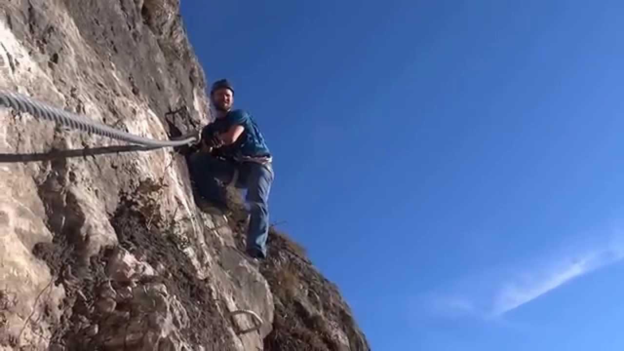 Klettersteig Geierwand : Klettersteig geierwand haiming youtube