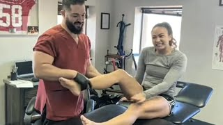 Michelle Waterson gets exruciating UFC therapy!