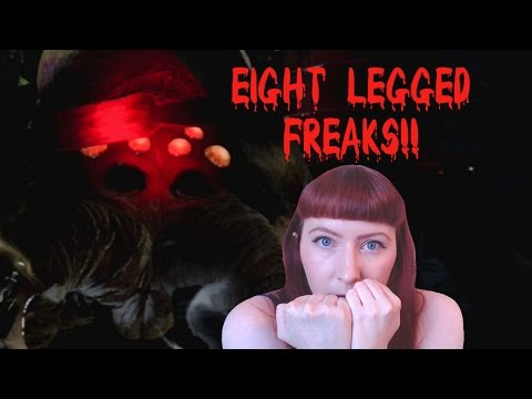 Until Dawn Rush Of Blood Playstation VR PS4 Let's Play Walkthrough Part 4 - Eight Legged Freaks!! - 동영상