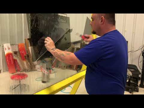 Easy how to hand cut and tint a car door window