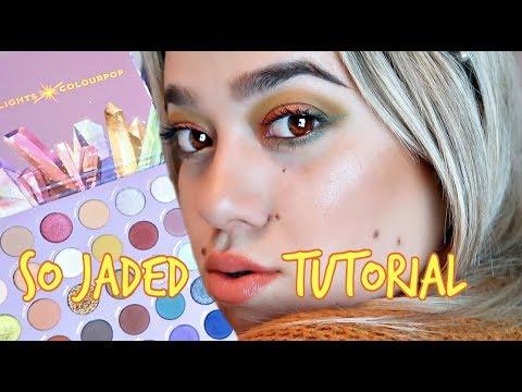 Colourpop SO JADED Palette Tutorial | ANDREA REYES thumbnail