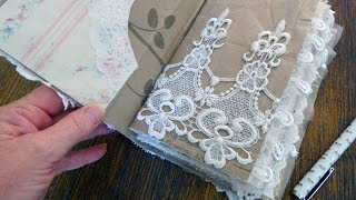 Shabby Junk Journal Tutorial - Start to Finish with Tresors de Luxe