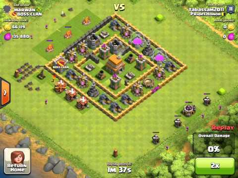 Clash of Clans - Raid #5 - BEST EVER PLACED RAGE SPELL - Wizard Healer