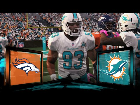 Madden NFL 16 Miami Dolphins Franchise- Year 3 Game 6 vs Denver Broncos