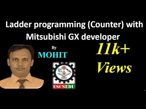 Ladder programming (Counter) with Mitsubishi GX developer by ESCS