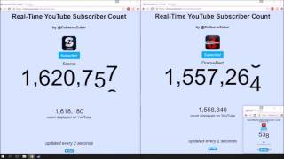 Time Lapse of Keemstar and Scarce Sub count