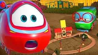 My Red Train (+1 hour funny Train kids videos compilation)