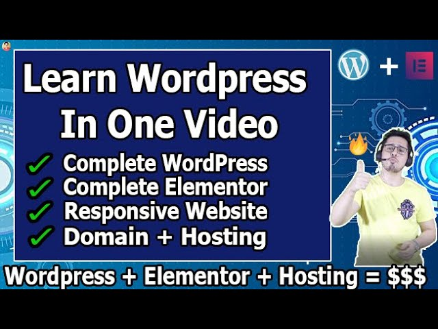 How To Make a WordPress Website   Wordpress Tutorial for Beginners   Elementor Tutorial In Hindi