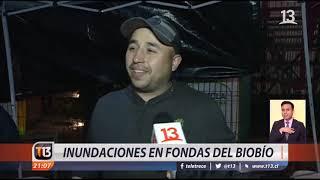 Inundaciones en fondas del Biobío