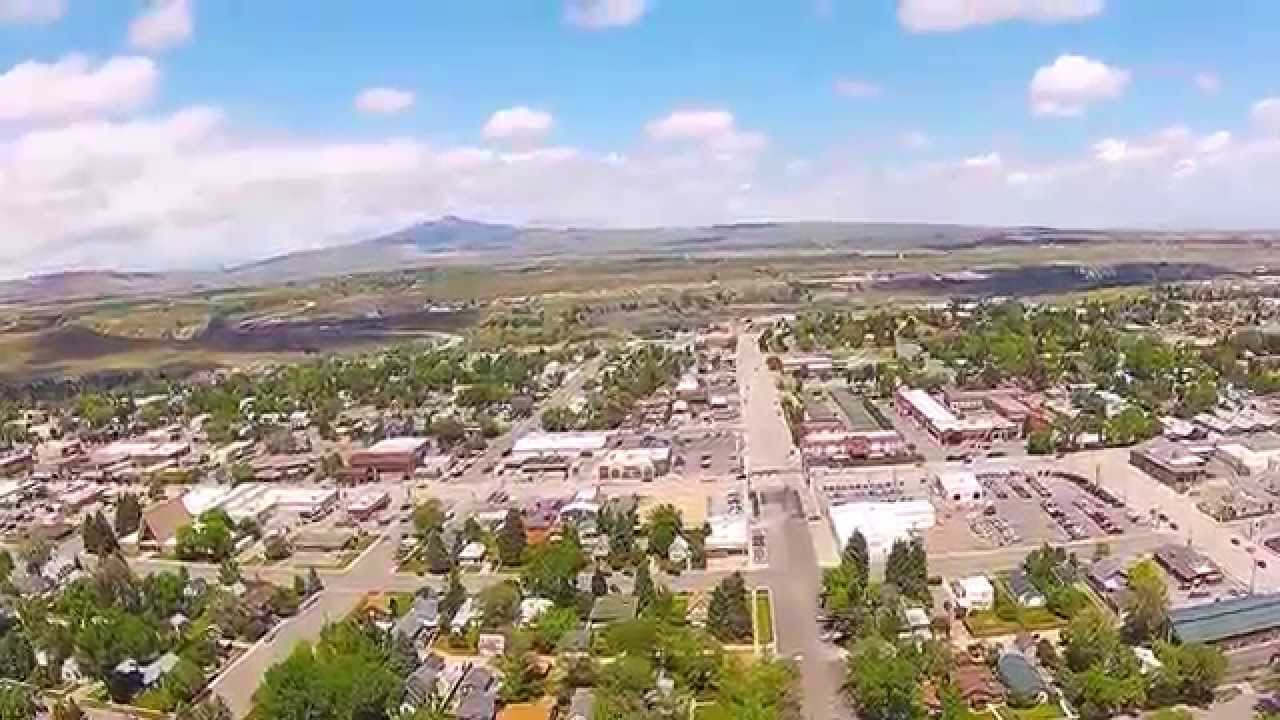 cody wyoming from the air