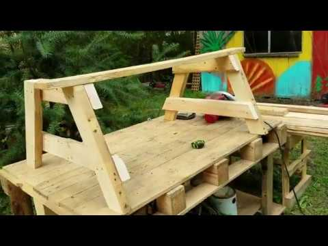 how-to-make-a-bench-out-of-a-pallet-#withme
