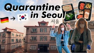 Travel to Quarantine in SOUTH KOREA With Me!! || room tour, vegan food + study abroad