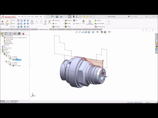 SolidCAM 2016 - Drive Unit Sharing function