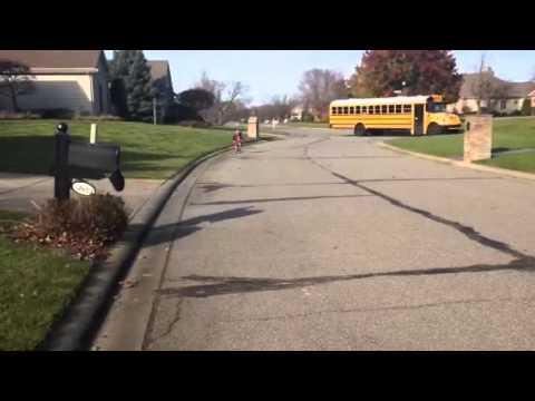 After school run and hug