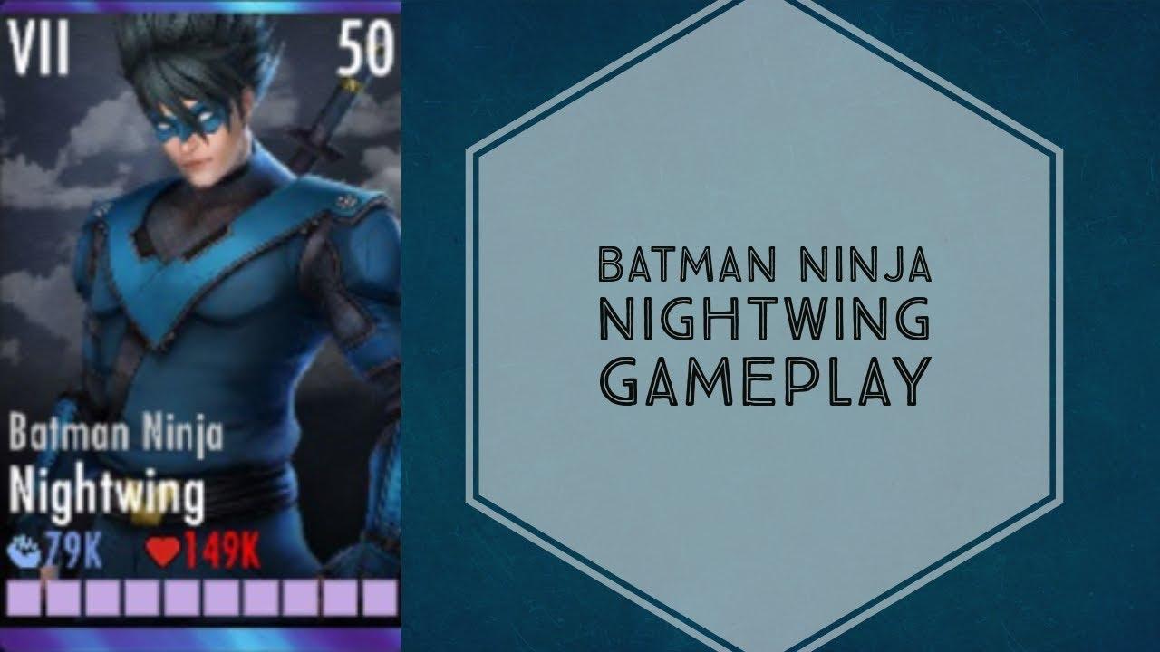 Injustice Gods Among Us Batman Ninja Nightwing Gameplay Elite Vii Youtube
