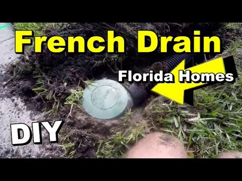 French Drain Orlando Diy How To Install Drain Pipe With