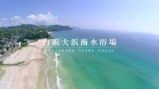 【空撮】伊豆白浜海岸と白浜神社