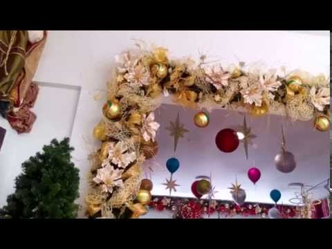 Ideas para decorar guirnaldas navide as doradas 2017 for Decoracion de guirnaldas