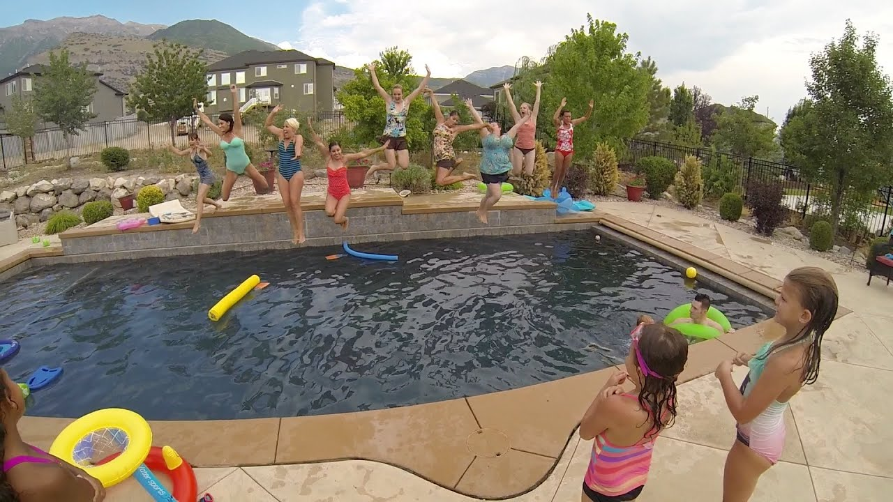 Summer BBQ and Pool Party - YouTube