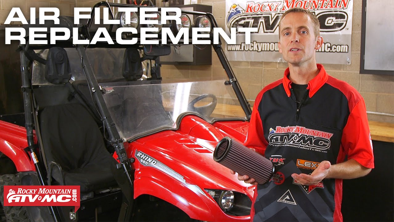 yamaha rhino air filter maintenance how to [ 1278 x 720 Pixel ]