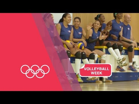 Volleyball Serving Challenge with Dominican Republic Women's Team