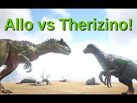 Allosaur vs Therizinosaurus! ARK: Survival Evolved