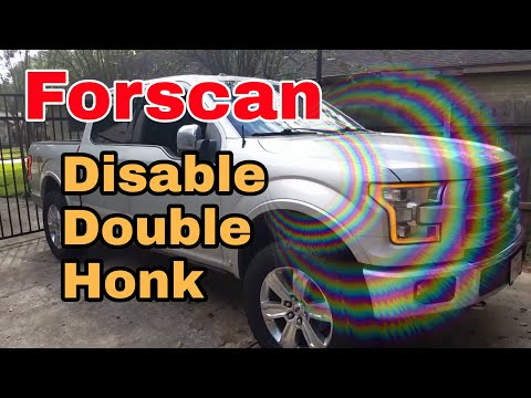 Forscan ford f150 double honk disable