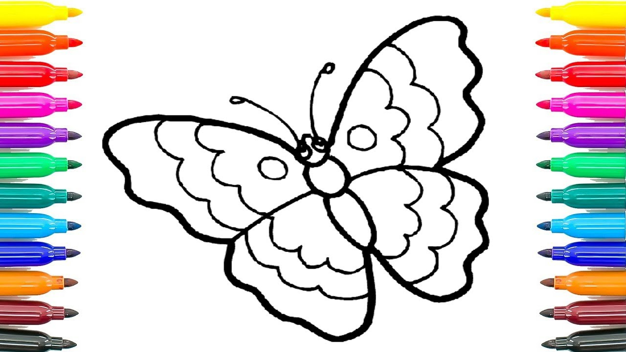 How to Draw Butterfly Coloring Pages for Kids How to Paint Butterfly ...