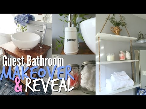 Small Bathroom Makeover and Tutorials FINALLY!!