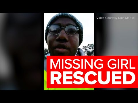 RAW VIDEO: Sanitation workers find missing 10-year-old girl from Amber Alert