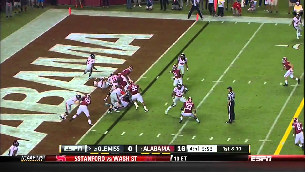 09 28 2013 ole miss vs alabama football highlights youtube