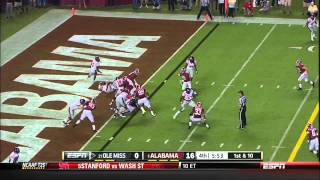 09/28/2013 Ole Miss vs Alabama Football Highlights