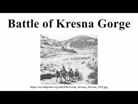 Battle of Kresna Gorge