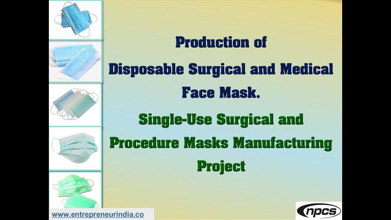 procedure disposable face mask
