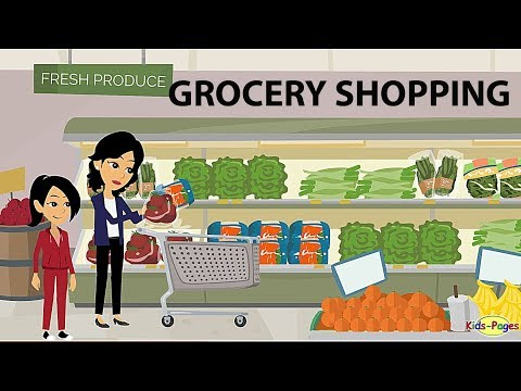 Shopping at the Grocery Store English Conversation
