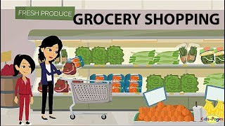 Shopping at the Grocery Store - English Conversation