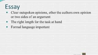 Formal writing, Essay Article Report