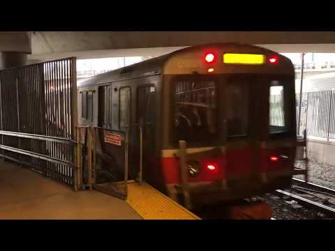MBTA Red Line train arriving at Ashmont